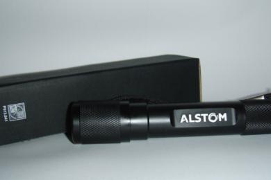 Taschenlampe mit Laserung